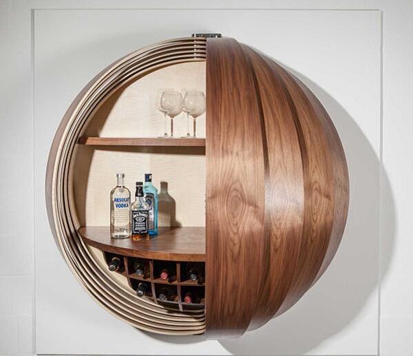 酒柜设计:神奇的壁挂式酒柜