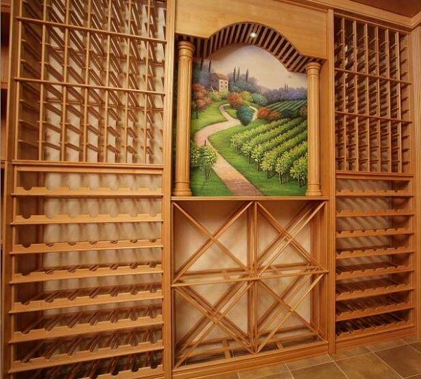 实木酒架和不锈钢酒架