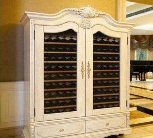 法式实木红酒柜设计