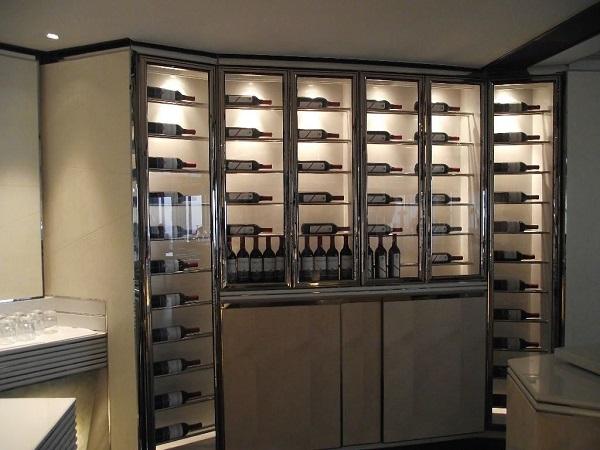 现代简约不锈钢酒柜定制