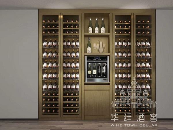 香槟金不锈钢四头分杯机酒柜