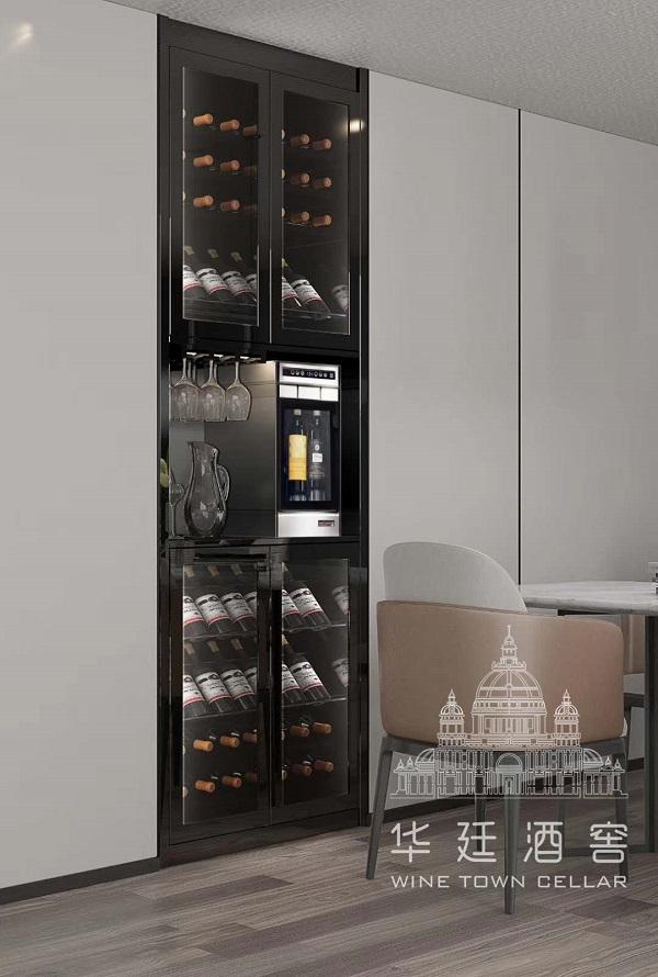 黑鈦不銹鋼兩頭分杯機酒柜