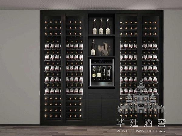黑钛不锈钢四头分杯机酒柜