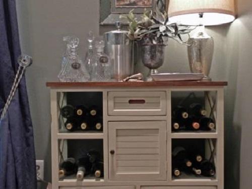 实木红酒柜设计,还是法式的好!